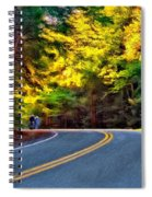 Into The Sunset Spiral Notebook