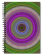 Introspection - Energy Art By Sharon Cummings Spiral Notebook