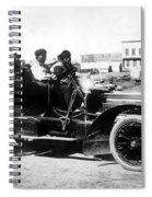 Inuits In Car, C1906 Spiral Notebook