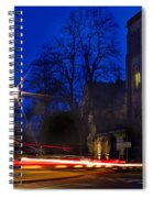 Inverness Cathedral At Night Spiral Notebook
