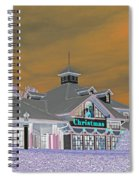 Invert Of The Apple Barn's Christmas Shop In Pigeon Forge Tennessee Spiral Notebook