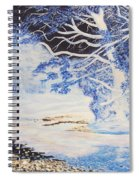Inverted Lights At Trawscoed Aberystwyth Welsh Landscape Abstract Art Spiral Notebook