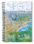 Invisible World Over Landscape Spiral Notebook