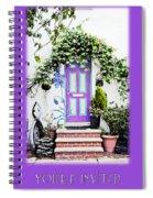 Invitation Greeting Card - Street Garden Spiral Notebook