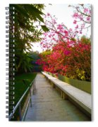 Inviting Garden Alley Spiral Notebook