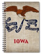 Iowa State Flag Spiral Notebook