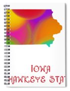 Iowa State Map Collection 2 Spiral Notebook