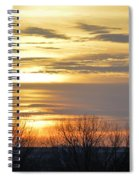 Iowa Sunrise Panorama Spiral Notebook