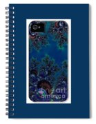 Iphone Case  Midnight Blue Frost Crystals Fractal Spiral Notebook