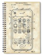iPhone Patent - Vintage Spiral Notebook