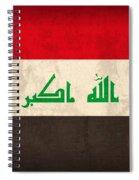 Iraq Flag Vintage Distressed Finish Spiral Notebook