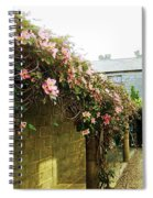 Ireland Floral Vine-topped Brick Wall Spiral Notebook