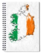 Ireland Painted Flag Map Spiral Notebook