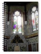 Ireland St. Brendan's Cathedral Stained Glass Spiral Notebook