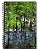 Ireland Stone Wall And Trees Spiral Notebook