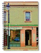 Irenes's Pub And Ernesto's Barber Shop Bank St Shops In The Glebe Paintings Of Ottawa Cspandau  Spiral Notebook