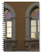 Iridescent Pastels At Sunset - Syracuse Arched Windows Spiral Notebook