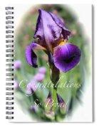 Iris Congratulations Card Spiral Notebook