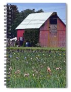 Iris Field And Barn Spiral Notebook