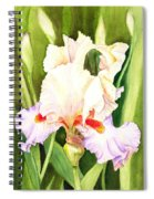 Iris Flower Dancing Petals Spiral Notebook