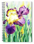 Iris Flowers Garden Spiral Notebook