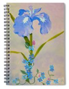 Iris With Forget Me Nots Spiral Notebook