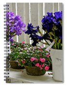 Irises And Impatiens Spiral Notebook
