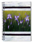 Irises And Old Boards - Weathered Wood Spiral Notebook