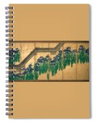 Irises At Yatsuhashi. Eight Bridges Spiral Notebook