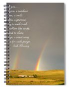 Irish Blessing Double Rainbow 07 11 14 Spiral Notebook