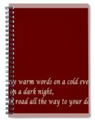Irish Blessing - Full Moon - Greeting  - Red Spiral Notebook
