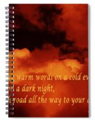 Irish Blessing On Orange Clouds And Full Moon Spiral Notebook