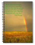 Irish Blessing Rain On The Prairie Spiral Notebook