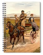 Irish Jaunting Car Spiral Notebook