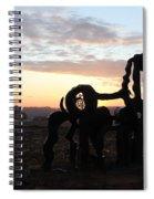 Iron Horse Keeping Watch Spiral Notebook