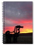 Iron Horse Waiting Spiral Notebook