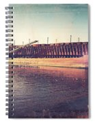 Iron Ore Freighter In Dock Spiral Notebook