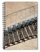 Iron Stairs Shadow Spiral Notebook