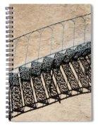Iron Stairs Shadow Spiral Notebook