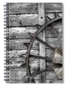 Iron Tractor Wheel Spiral Notebook