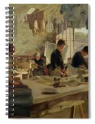 Ironing Workshop In Trouville Spiral Notebook