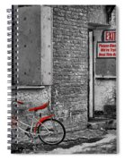 Irony In The Alley Spiral Notebook
