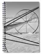 Irrigation Pipe In Winter Spiral Notebook