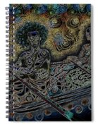 Island Canoe Lovebirds Spiral Notebook