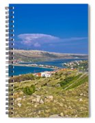 Island Of Pag Aerial Bay View Spiral Notebook