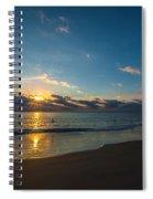 Coastal Beach Sunrise Spiral Notebook