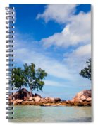 Islands And Clouds, The Seychelles Spiral Notebook