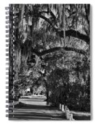Isle Of Hope Bw Spiral Notebook