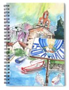 Isola Maggiore In Italy 01 Spiral Notebook