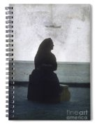 Isolated Woman Spiral Notebook